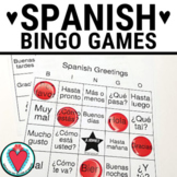 Spanish Greetings Bingo and Vocabulary Lists - Spanish 1