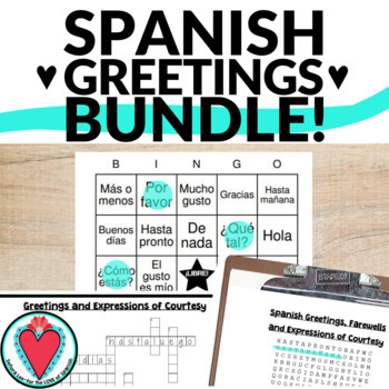 Spanish greetings crossword puzzle teaching resources teachers pay spanish greetings bundle word search crossword puzzle bingo vocab lists m4hsunfo