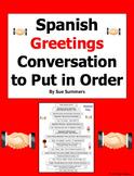 Spanish Greetings Conversation To Put in Order / Greetings Skit