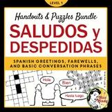 Spanish Greetings Farewells & Basic Conversation Handout,