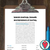 Spanish Greetings Worksheet - Spanish Vocabulary Word Search
