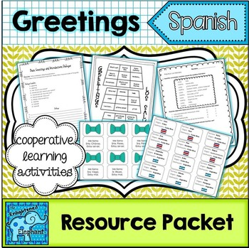 Spanish Greetings, Farewells and Basic Introductions Thematic Unit