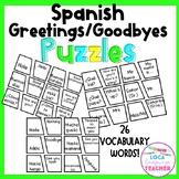 Spanish Greetings/Goodbyes Puzzles (Saludos y Despedidas)