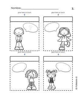 Spanish Greetings Interactive Notebook and Flash Cards