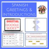 Spanish Greetings & Introductions Digital, Google Slides™