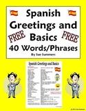 Spanish Greetings, Leave Takings & Basics Vocabulary Reference / ESL