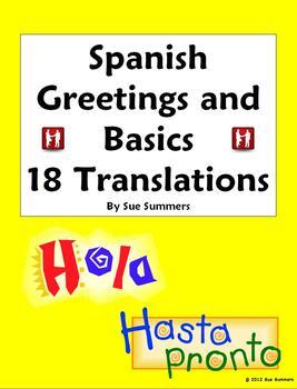 Spanish Greetings, Leave Takings & Basics Worksheet