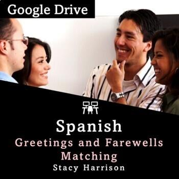 Spanish Greetings Matching