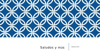 Spanish Greetings & More PowerPoint