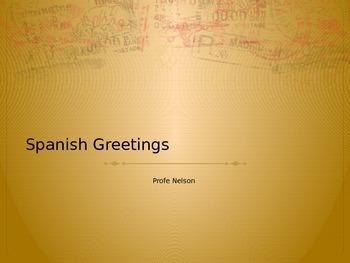 Spanish Greetings PPT