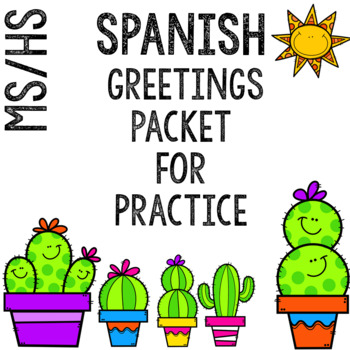 Spanish Greetings Packet for Practice