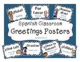 Spanish Greetings Posters - Chevron