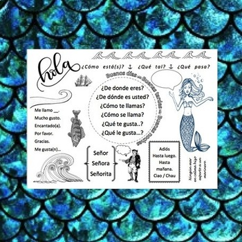 Spanish Greetings, Sea-themed notes
