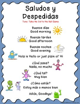Spanish Greetings Song