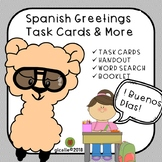 Spanish Greetings Task Cards and Activities