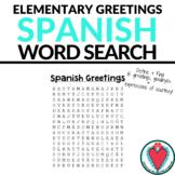 Spanish Greetings Word Search - Beginning Spanish
