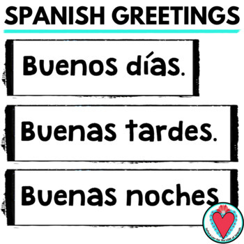 Spanish Greetings Word Wall | Pared de Palabras