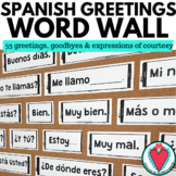 Spanish Greetings - Spanish Word Wall - Spanish Vocabulary