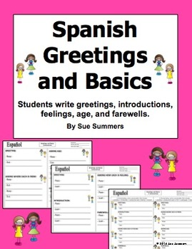 Spanish Greetings and Basics 2 Writing Dialogues