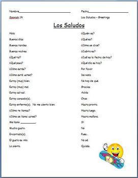 Spanish - Greetings and Courtesy Vocabulary
