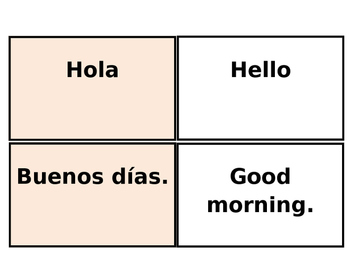 photo relating to Spanish Flashcards Printable named Printable Flashcards: Spanish Greetings / Farewells (Avancemos 1 Lección prelim)