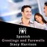BEST SELLER! Spanish Greetings and Farewells Practice Worksheet