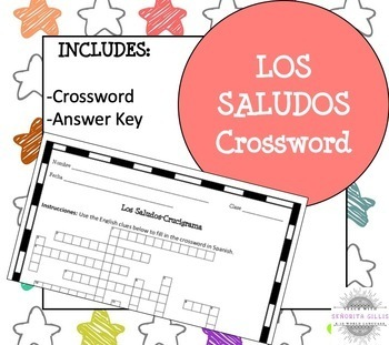Spanish Greetings and Introductions Crossword