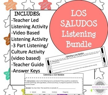 Spanish Greetings and Introductions Listening Activities
