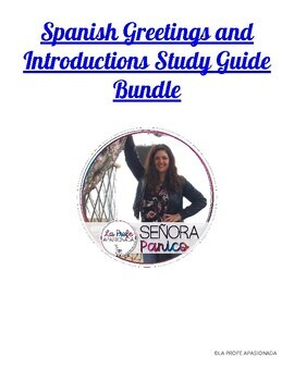 Spanish Greetings and Introductions Study Guide Bundle