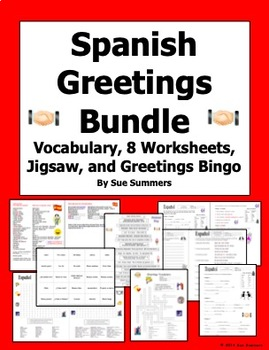 Spanish greetings worksheet teaching resources teachers pay teachers spanish greetings and leave takings bundle of 10 m4hsunfo