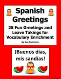 Spanish Greetings and Leave Takings PowerPoint  - 25 Fun Phrases