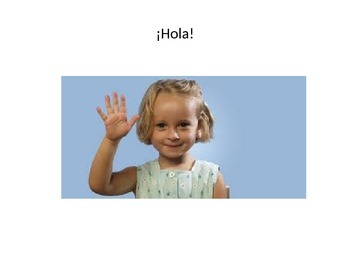 Spanish Greetings for kids PowerPoint