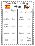 Spanish Greetings (& numbers too!) Bingo