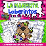 Groundhog Day Spanish Activities : El dia de la marmota- Mazes - Problem Solving