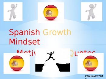 Spanish Growth Mindset/ Motivational Printable Display Quotes.