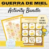 Spanish Guerra de Miel Game BUNDLE Includes Editable Templates