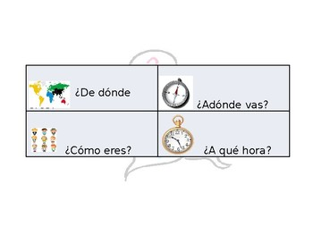 Spanish Guided Interrogative Notes