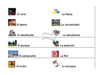 Spanish Guided Notes- Cognate Vocabulary