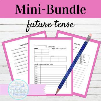 Spanish 3 Future MINI BUNDLE: Guided Notes, Practice, & Interview (el futuro)