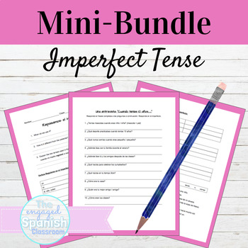 Spanish Imperfect MINI BUNDLE: Guided Notes, Practice, and Interview