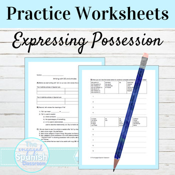 """Spanish Guided Notes and Practice: Writing with """"de"""""""