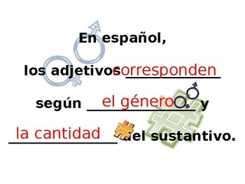 Spanish- Guided Notes on Adjective Agreement