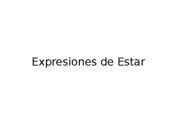 Spanish Guided Notes on Estar Expressions and Conjugation
