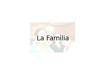 Spanish Guided Notes on Family Vocabulary