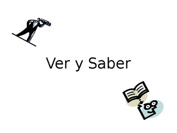 Spanish Guided Notes on PONER/SABER/VER