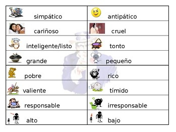 Spanish- Guided Notes on Personalty and Physical Adjectives