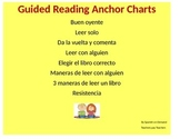 Spanish Guided Reading Anchor Charts - Space Savers