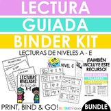 Spanish Guided Reading Binder Kit with Reading Passages -