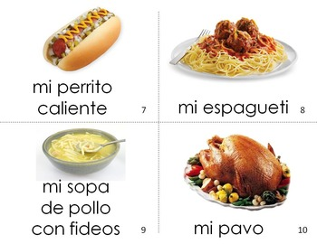 Spanish Guided Reading My Dinner