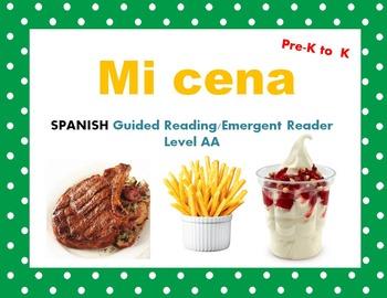 Spanish Guided Reading My Dinner